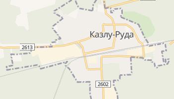 Казлу-Руда - детальная карта