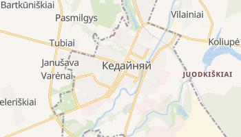 Кедайняй - детальная карта