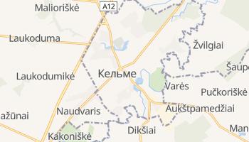 Кельме - детальная карта