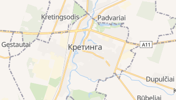 Кретинга - детальная карта