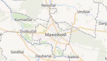 Мажейкяй - детальная карта