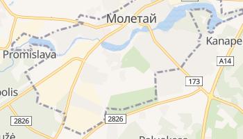 Молетай - детальная карта