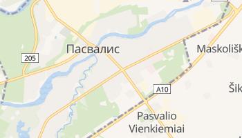 Пасвалис - детальная карта