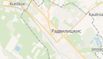 Радвилишкис - детальная карта