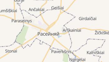 Расейняй - детальная карта