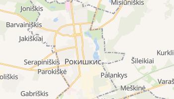 Рокишкис - детальная карта