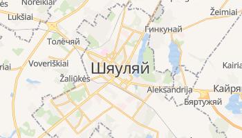 Шяуляй - детальная карта