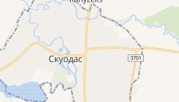 Скуодас - детальная карта