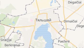 Тельшяй - детальная карта