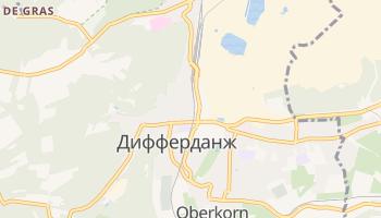 Дифферданж - детальная карта