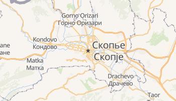 Скопье - детальная карта
