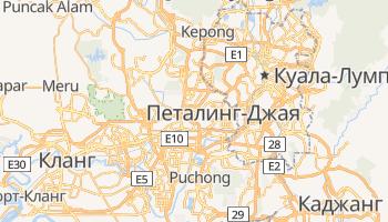 Петалинг-Джая - детальная карта