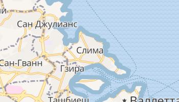 Слима - детальная карта