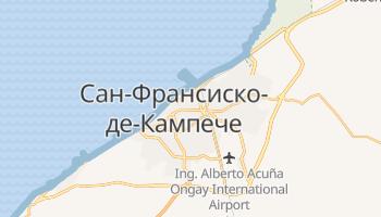 Кампече - детальная карта