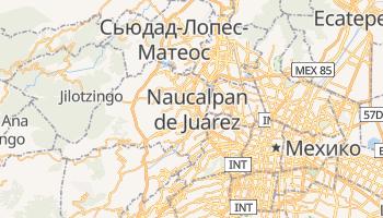 Наукальпан-де-Хуарес - детальная карта