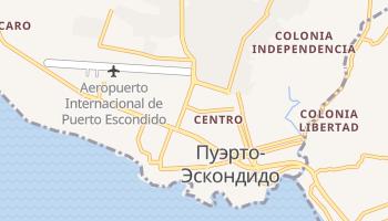 Пуэрто-Эскондидо - детальная карта
