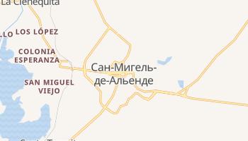 Сан-Мигель-де-Альенде - детальная карта