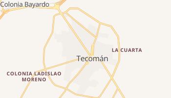 Текомане - детальная карта