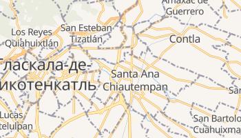 Тласкала - детальная карта