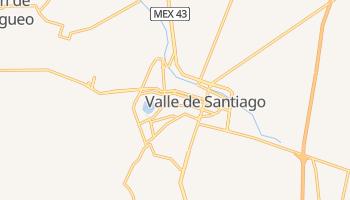 Валье-де-Сантьяго - детальная карта