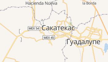 Сакатекас - детальная карта