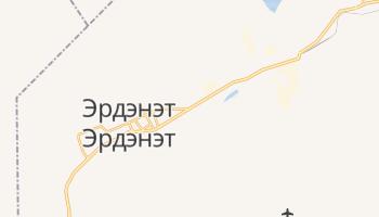 Эрдэнэт - детальная карта
