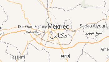 Мекнес - детальная карта
