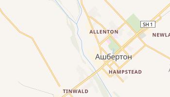 Ашбертон - детальная карта