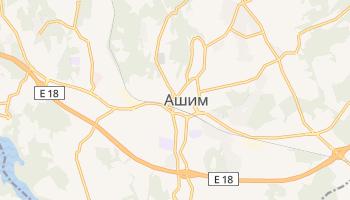 Ашим - детальная карта