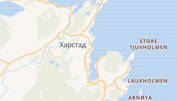 Харстад - детальная карта