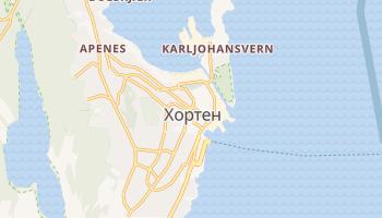 Хортен - детальная карта
