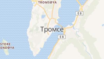 Тромсё - детальная карта