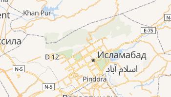Исламабад - детальная карта