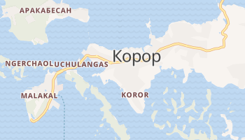 Корор - детальная карта