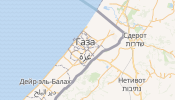 Газа - детальная карта