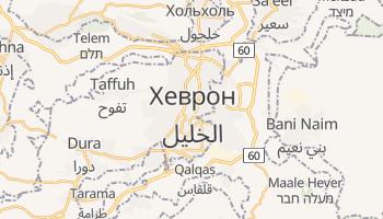 Хеврон - детальная карта