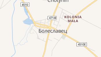 Болеславец - детальная карта