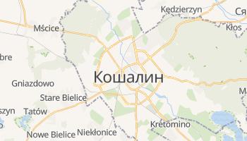 Кошалин - детальная карта