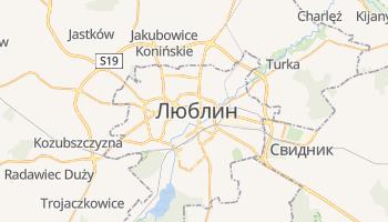 Люблин - детальная карта
