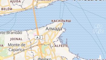 Алмада - детальная карта