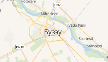 Бузэу - детальная карта