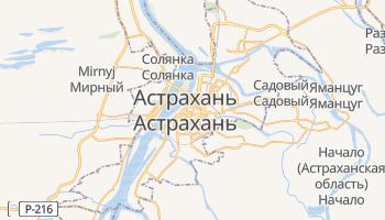 Астрахань - детальная карта