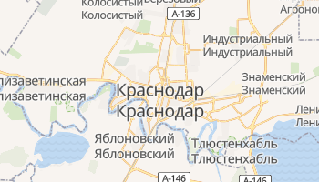 Краснодар - детальная карта
