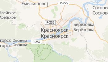 Красноярск - детальная карта