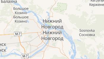 Нижний Новгород - детальная карта