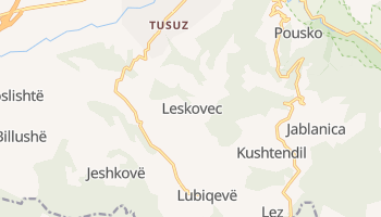 Лесковац - детальная карта