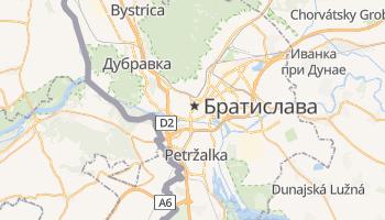 Братислава - детальная карта