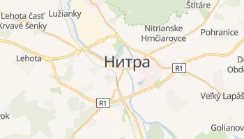 Нитра - детальная карта