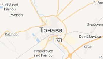Трнава - детальная карта
