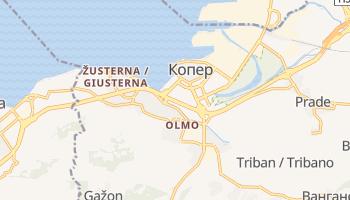Копер - детальная карта